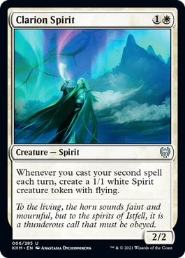 Clarion Spirit Black White Two Spells Archetype