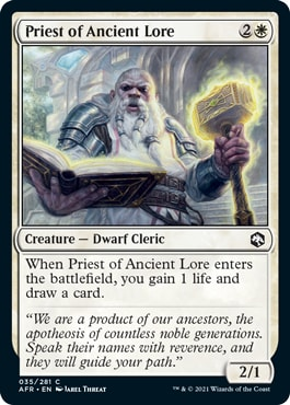 Priest of Ancient Lore Best Commons Forgotten Realms Draft