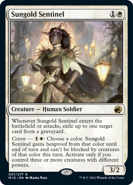 Sungold Sentinel How Does Coven Work MTG Mechanic