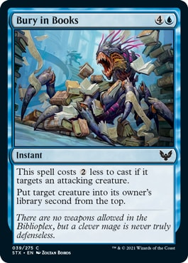 Bury in Books Blue Best Commons Strixhaven Draft