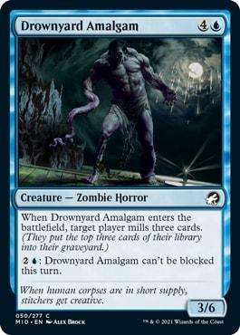 Drownyard Amalgam How to Win Midnight Hunt Draft MTGA