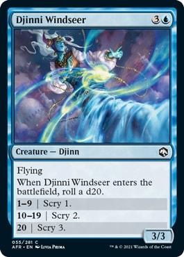 Djinni Windseer  Forgotten Realms Draft Guide