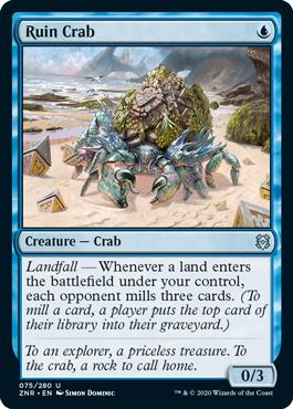 How to Draft a Mill Deck Zendikar Rising Ruin Crab