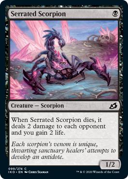 Serrated Scorpion how to draft lurus