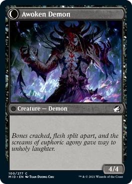 Awoken Demon Transform Midnight Hunt Draft