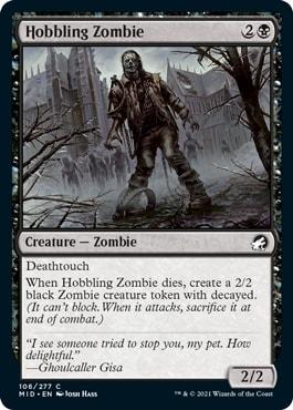 Hobbling Zombie Midnight Hunt Draft Tier List