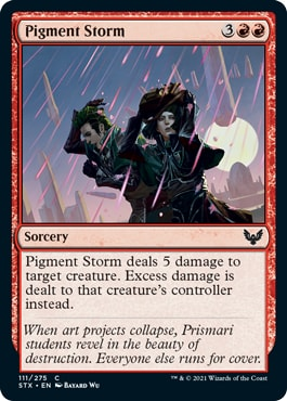 Pigment Storm Strixhaven Draft Tips