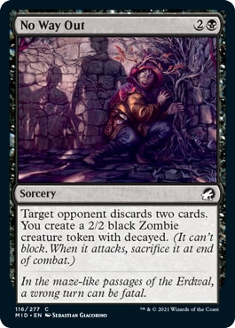 No Way Out Decayed Zombies in Midnight Hunt Draft