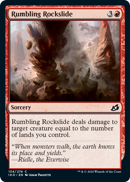 Ikoria Lair of Behemoths Draft Guide Rumbling Rockslide