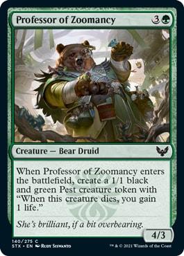 Professor of Zoomancy Strixhaven Draft Guide