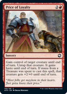 Price of Loyalty Combo Forgotten Realms Draft