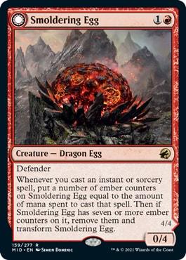 Smoldering Egg Dragons Midnight Hunt Decklist