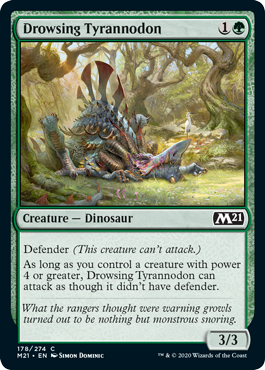 Drowsing Tyrannodon Best Green Common M21 Draft