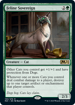 Feline Sovereign cat deck core set 2021 decklist