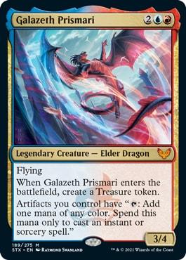 Galazeth Prismari Standard Decklist Dragon Tribal Strixhaven
