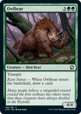 Owlbear Adventures in the Forgotten Realms Draft Guide