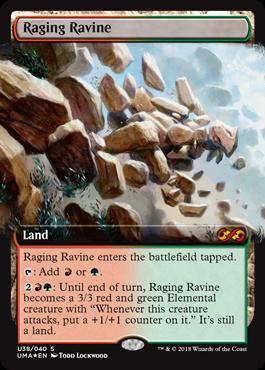 raging ravine mana base upgrade land's wrath zendikar rising commander