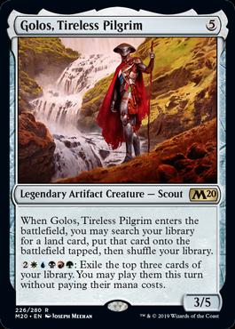 Golos, Tireless Pilgrim best commander cards M20