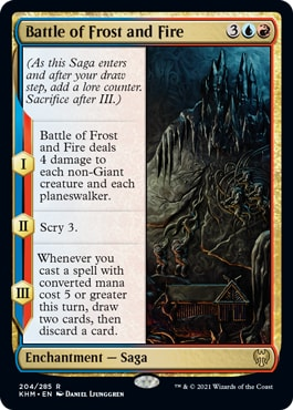 Battle of Frost and Fire Decklist