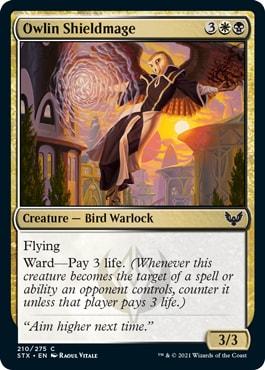 Owlin Shieldmage How does Ward work MTG?