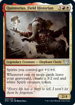 Quintorius, Field Historian How to Draft Lorehold Strixhaven