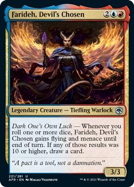 Farideh, Devil's Chosen Forgotten Realms Draft Archetypes