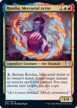 Rootha, Mercurial Artist How to Draft Prismari Strixhaven Draft