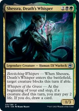 Shessra, Death's Whisper Forgotten Realms Draft Archetypes