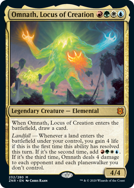 Top 10 Cards to Craft From Zendikar Rising Omnath Locus of Creation