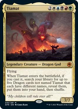 Tiamat Adventures in the Forgotten Realms Predictions