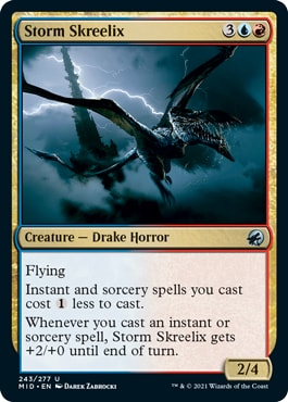 Storm Skreelix Midnight Hunt Draft Archetypes