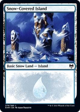 Kaldheim Snow-Covered Basic Lands Island