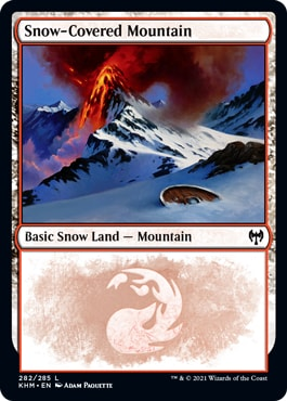 Where to Get Kaldheim Snow-Covered Basic Lands Mountain