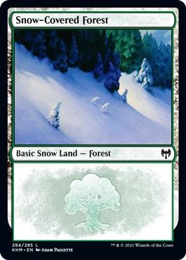 Kaldheim Snow-Covered Basic Lands Forest