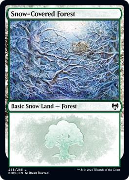 Kaldheim Snow Covered Basic Lands Forest