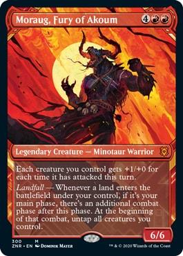 Moraug Fury of Akoum Alternate Art Zendikar Rising Collector Booster