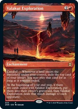 Valakut Exploration Zendikar Rising Collector Booster Contents