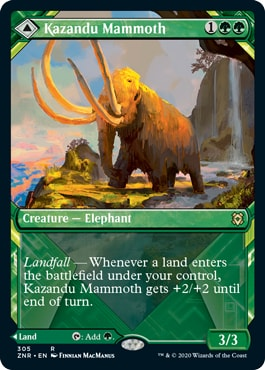 Kazandu Mammoth Alternate Art Collector Booster