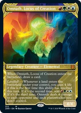 Omnath Locus of Creation Zendikar Rising Collector Booster Showcase Version
