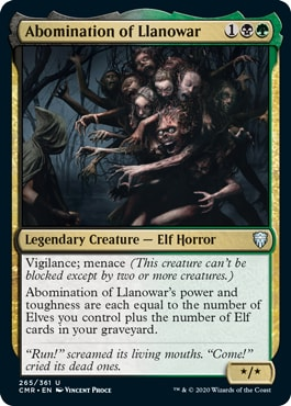 Abomination of Llanowar Which Cards Are in Commander Legends