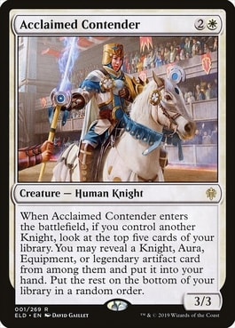 Acclaimed Contender Best MTG Knights