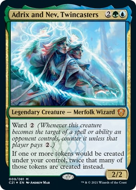 Adrix and Nev, Twincasters Commander 2021 Deck