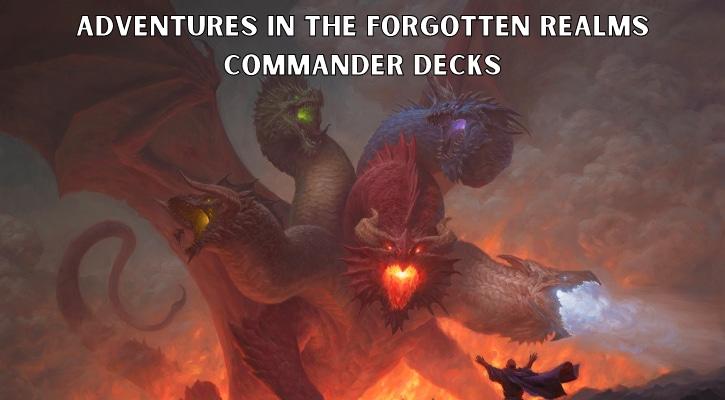 Adventures in the Forgotten Realms Commander Decks Precons Decklists Banner