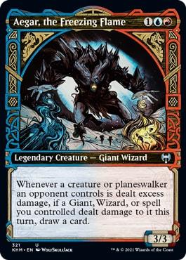 Aegar the Freezing Flame Kaladesh Viking Cards