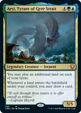 Aesi, Tyrant of Gyre Strait Commander Legends Deck Decklist