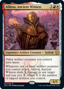 Alibou Ancient Witness Commander 2021 New Cards