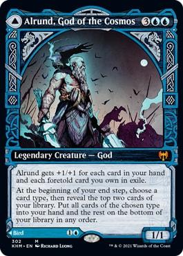 Alrund God of the Cosmos Kaldheim Showcase Cards