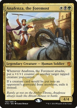 Anafenza, the Foremost Abzan Commander Ideas
