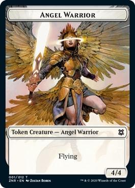 Angel Warrior Zendikar Rising Tokens