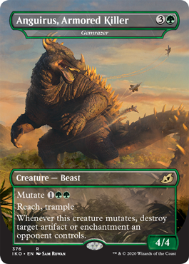 Anguirus, Armored Killer MTG Godzilla Cards